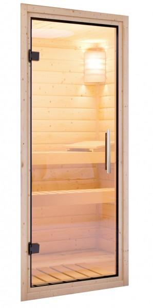 Saunatür Klarglas für 38/40 mm Kabinen