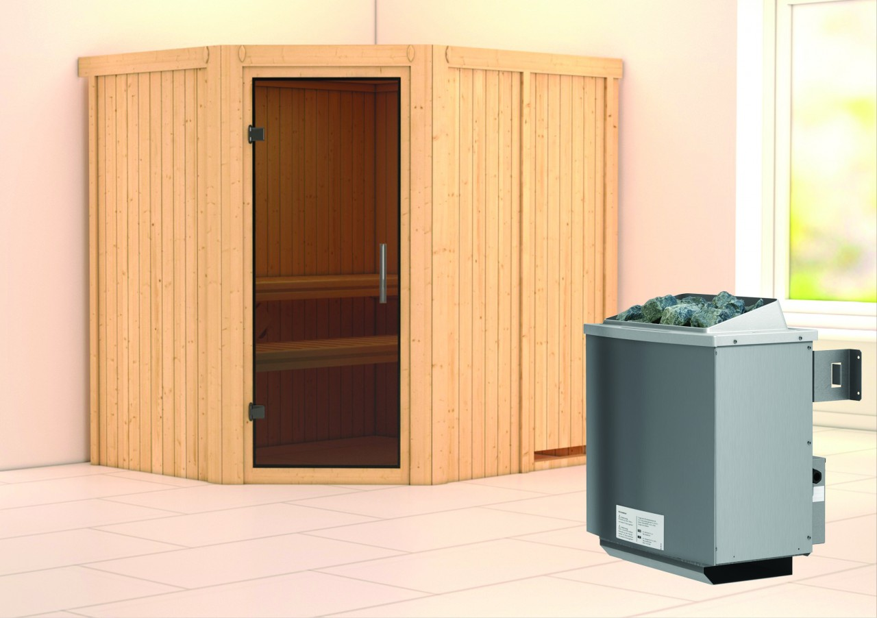 Sauna SIIRIN 1,96 x 1,70 m - 9.0 kW Ofen integr...