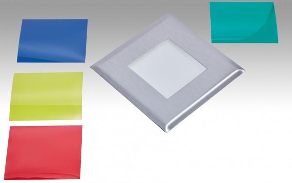 NV-LED-Einbauleuchte FLAT-Quadro Edelstahl 238