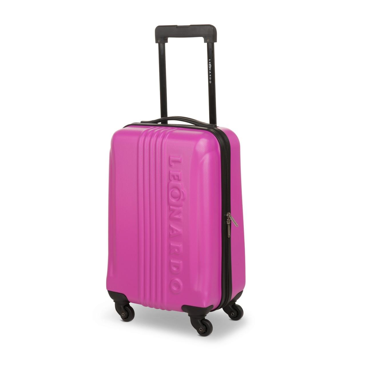 preisvergleich leonardo koffer pink reisegep ck trolley. Black Bedroom Furniture Sets. Home Design Ideas