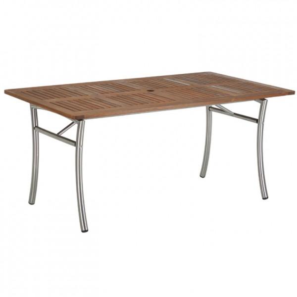 Gartentisch LUCO, Tisch Akazie-Edelstahl