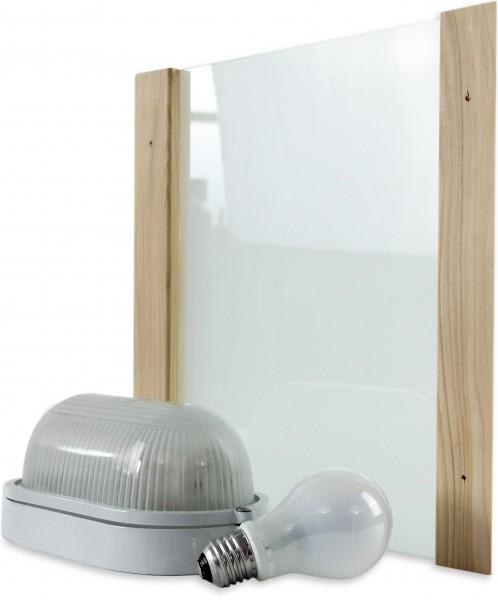 Saunalampe LED PREMIUM für Starkstrom mit Anschlusskabel