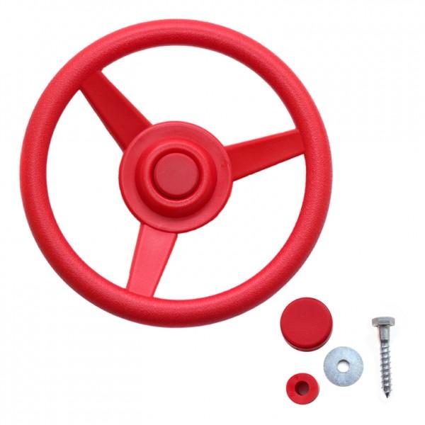 Lenkrad für Spielturm Rot Ø 30 cm