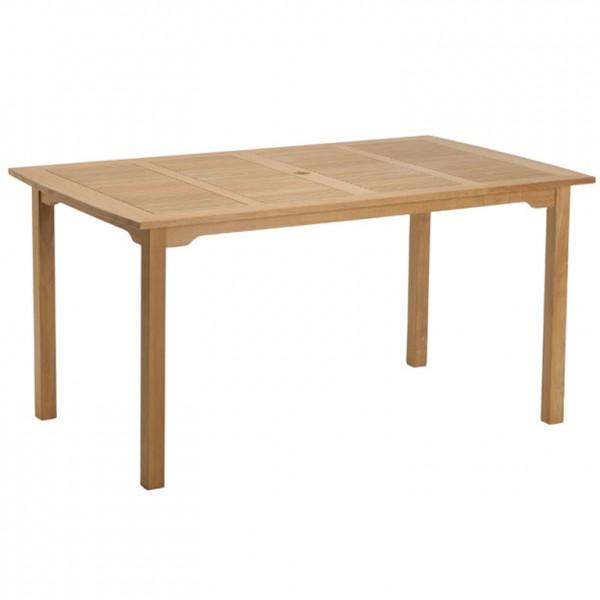 Gartentisch 150x90 cm Teakholz