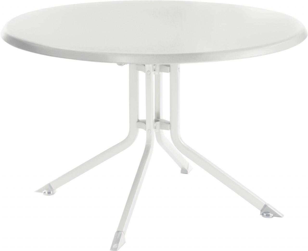 KETTALUX Klapptisch Ø 115 cm weiß/weiß