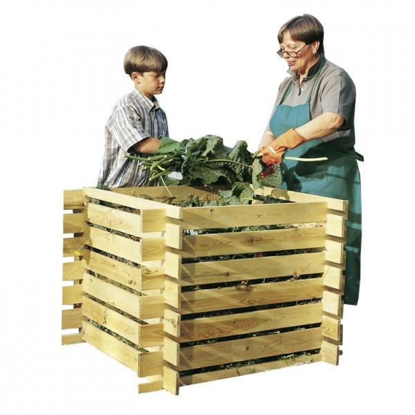 Komposter Holz 100 x 100 cm 448 Liter imprägniert