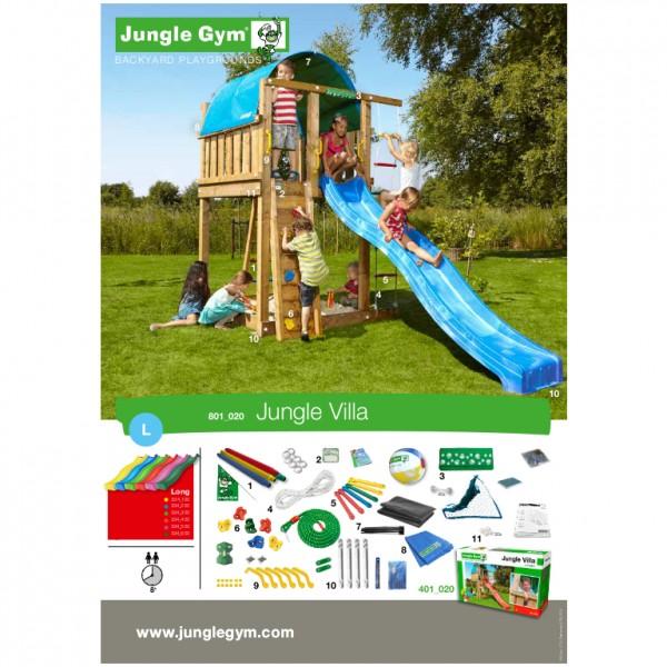 jungle gym emmas villa spielturm set mit schaukel. Black Bedroom Furniture Sets. Home Design Ideas