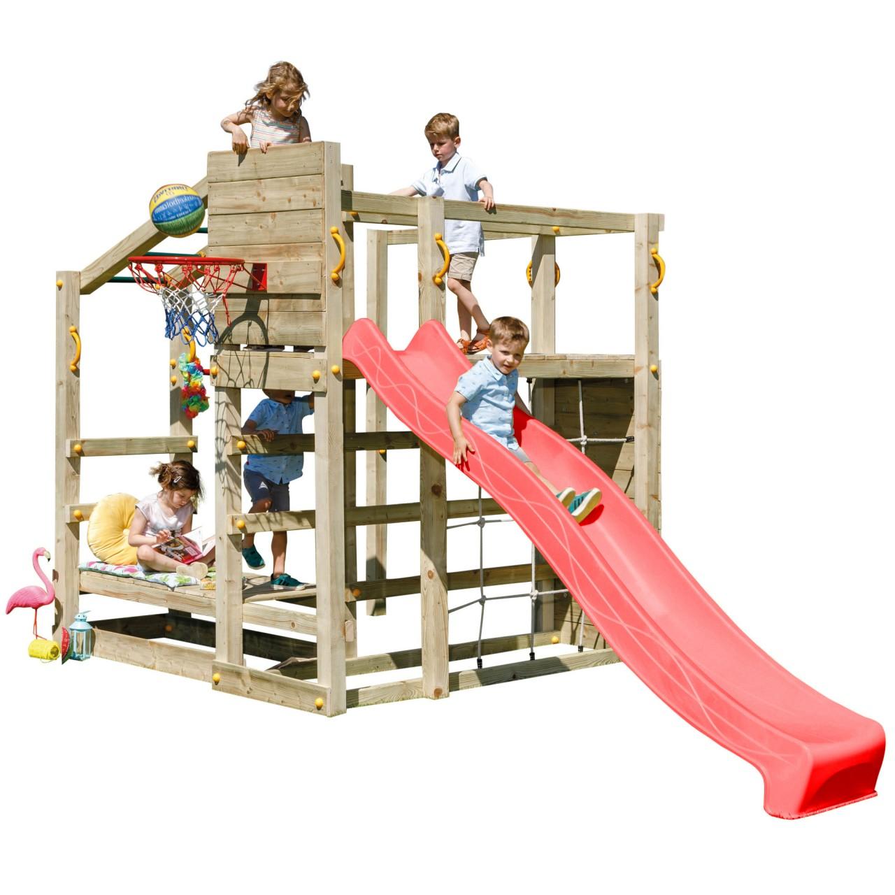 Blue Rabbit  Spielturm CROSSFIT mit Rutsche  Rot DH751