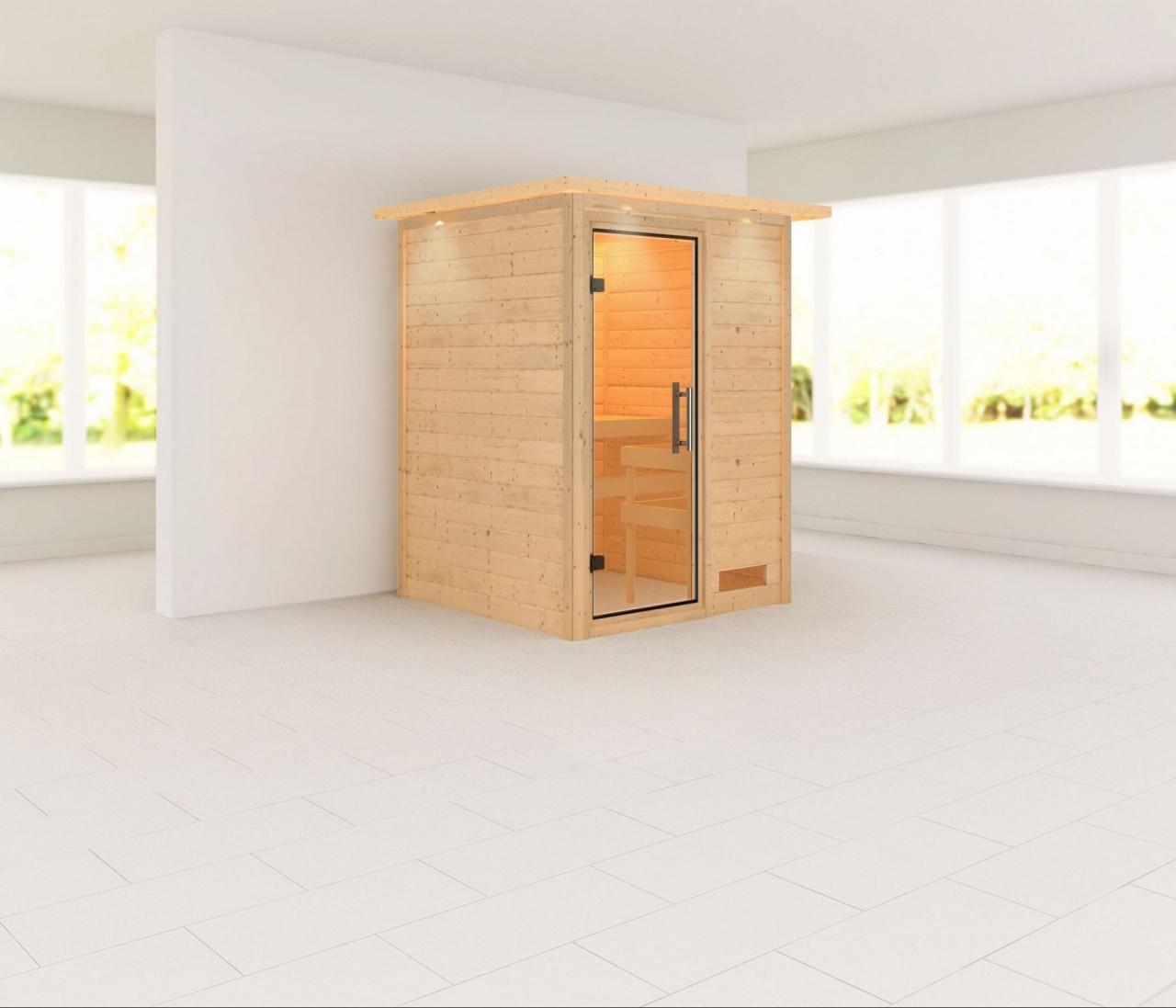 Sauna SVENJA 1,46 x 1,46 m