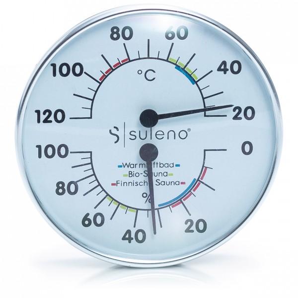 Sauna Klimamesser 2in1 Edelstahl Thermometer/Hygrometer