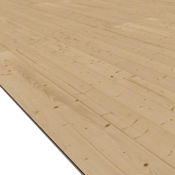 Gartenhaus Fußboden für Sockelmaß 3,72 x 4,62 m naturbelassen