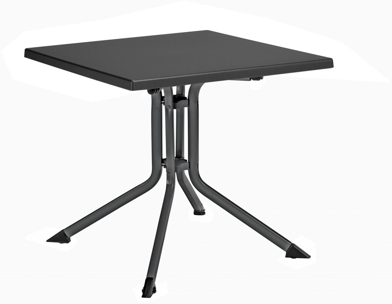 kettalux klapptisch 115 x 70 cm silber anthrazit ean 4001397387190 preisvergleich und. Black Bedroom Furniture Sets. Home Design Ideas