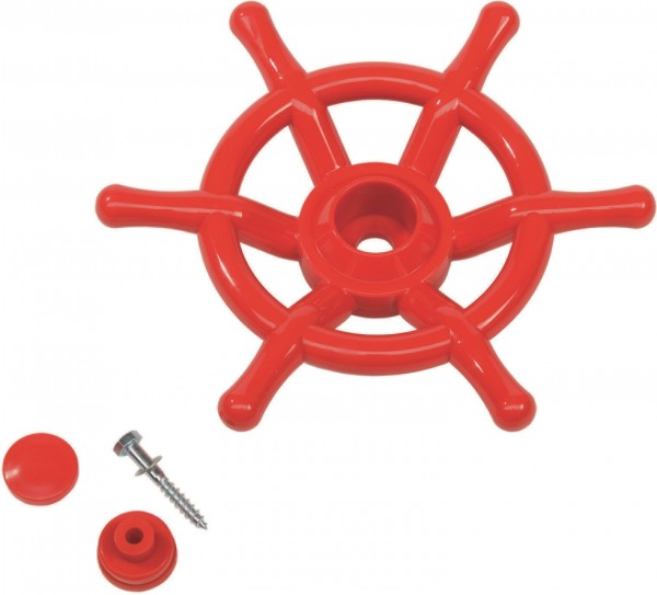 Schiffslenkrad Ø 35 cm Rot