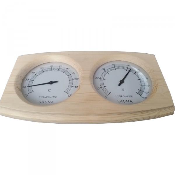 sauna thermometer hygrometer anna modern klimamesser zeitmesser luftfeuchtigkeit ebay. Black Bedroom Furniture Sets. Home Design Ideas