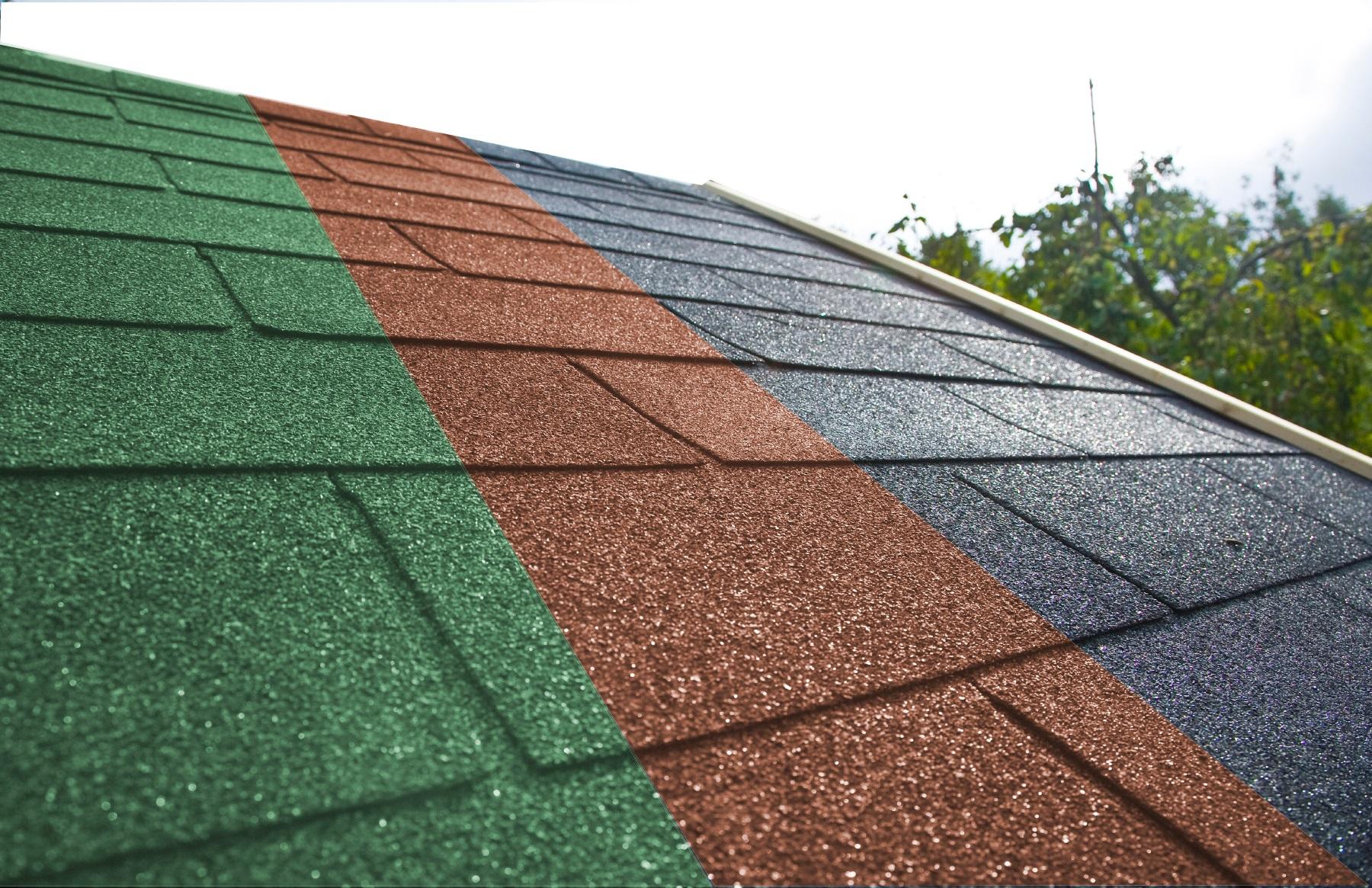 Bitumen-Dachschindeln Rechteck rot