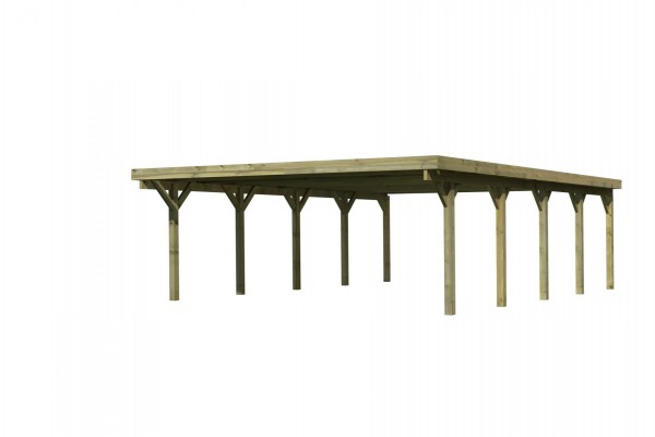 Doppelcarport Classic 3 PVC-Dach 5,63 x 7,78 m