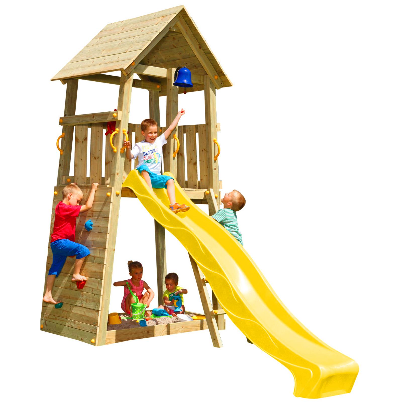 blue rabbit spielturm belvedere mit rutsche kletterturm. Black Bedroom Furniture Sets. Home Design Ideas