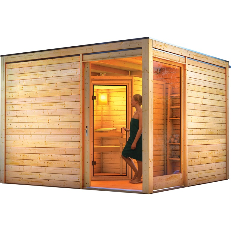 karibu saunahaus cubus eck 2 3 20 x 3 20 m mit sauna jarin. Black Bedroom Furniture Sets. Home Design Ideas