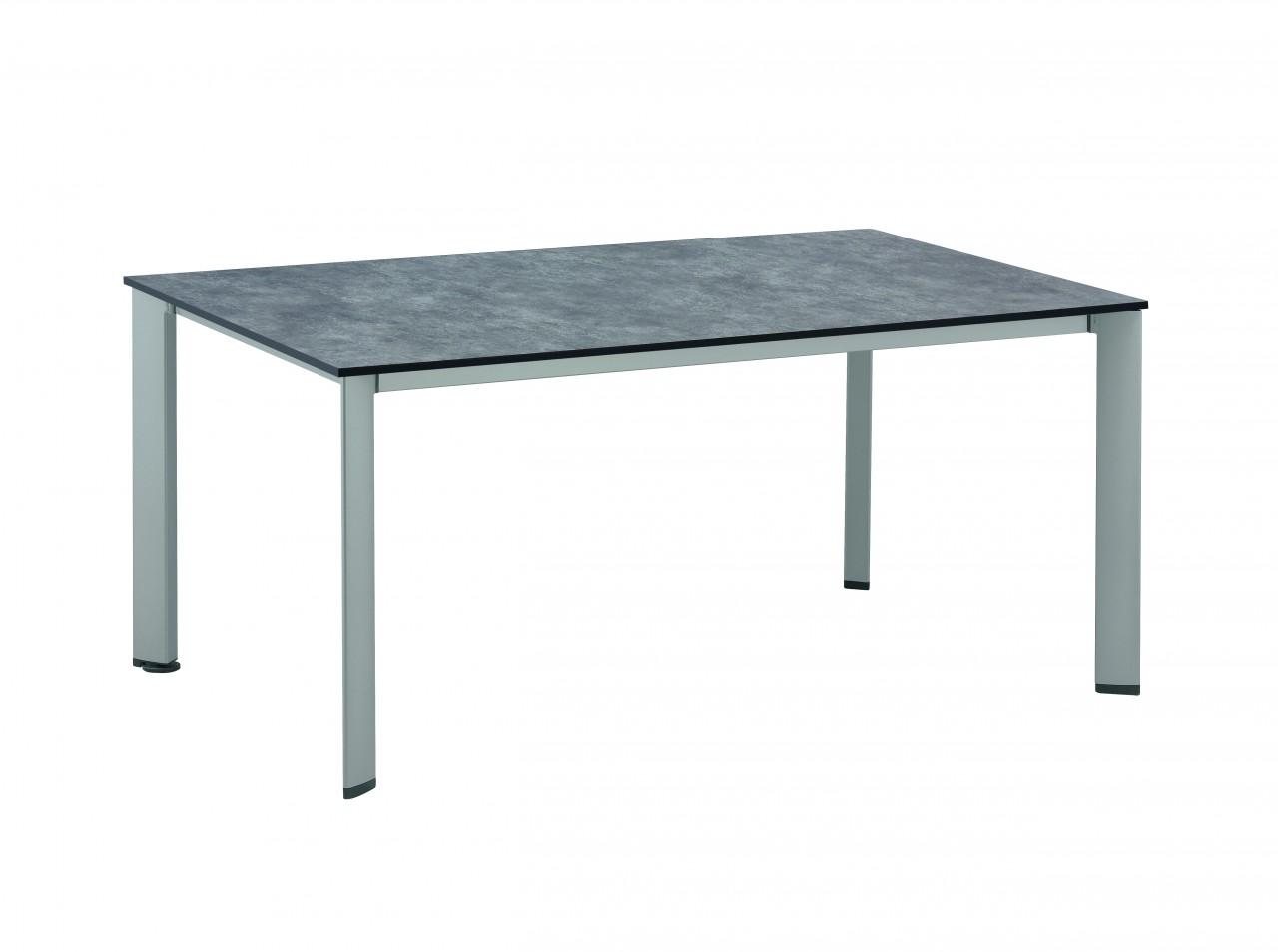 Gartentisch HPL DINING Tisch 160x95 cm silber/antrazit