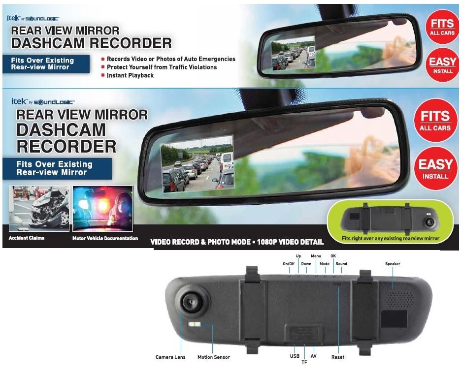 Rückspiegel Kamera 2,5 Full HD 1080P Recorder D...