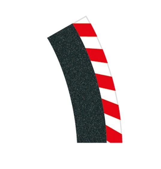 Digital 124/132 6 Außenrandstreifen Steilkurve 1/30°, 2 Endstücke