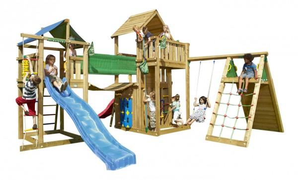 MEGA_2_Spielturm_Set_mit_Kletterwand,_Spielhaus,_Schaukel_und_Rutschen