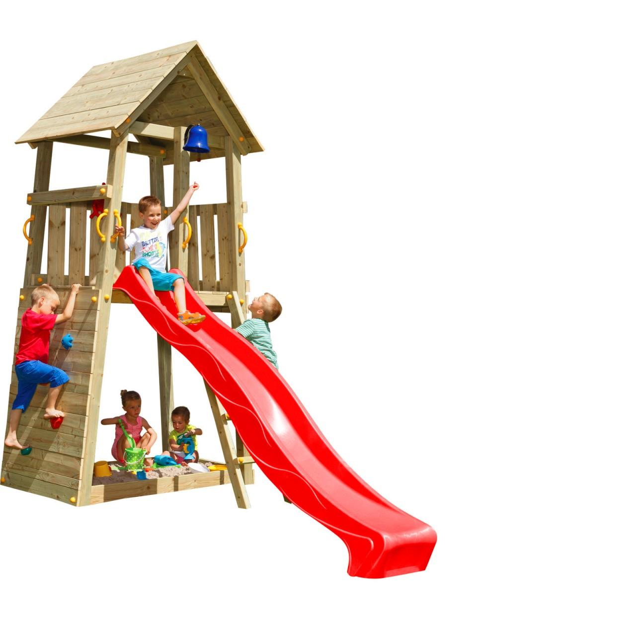Spielturm BELVEDERE mit Rutsche 2,90 m Rot