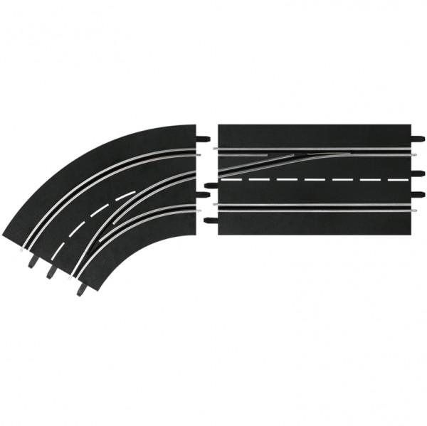 Digital 124/132 Spurwechselkurve links Außen nach Innen