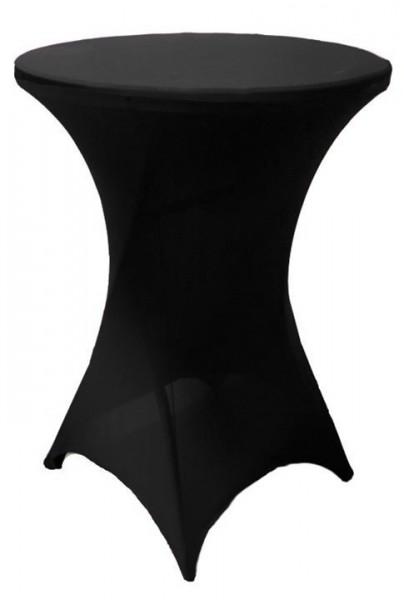 Stehtischhusse Stretch Ø 80 cm schwarz