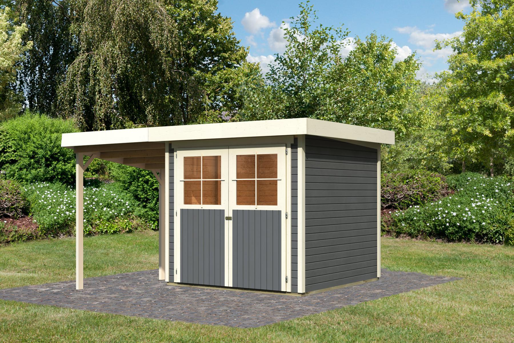 einzigartig gartenhaus metall pultdach schema garten design ideen. Black Bedroom Furniture Sets. Home Design Ideas