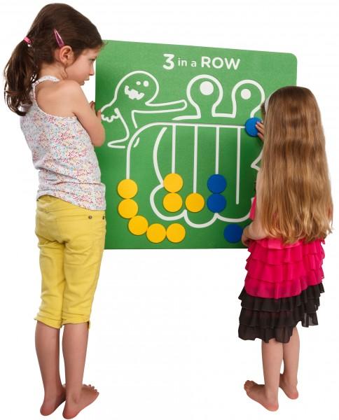 Spielwand 3 IN A ROW Grün 73,5 x 73,5 cm