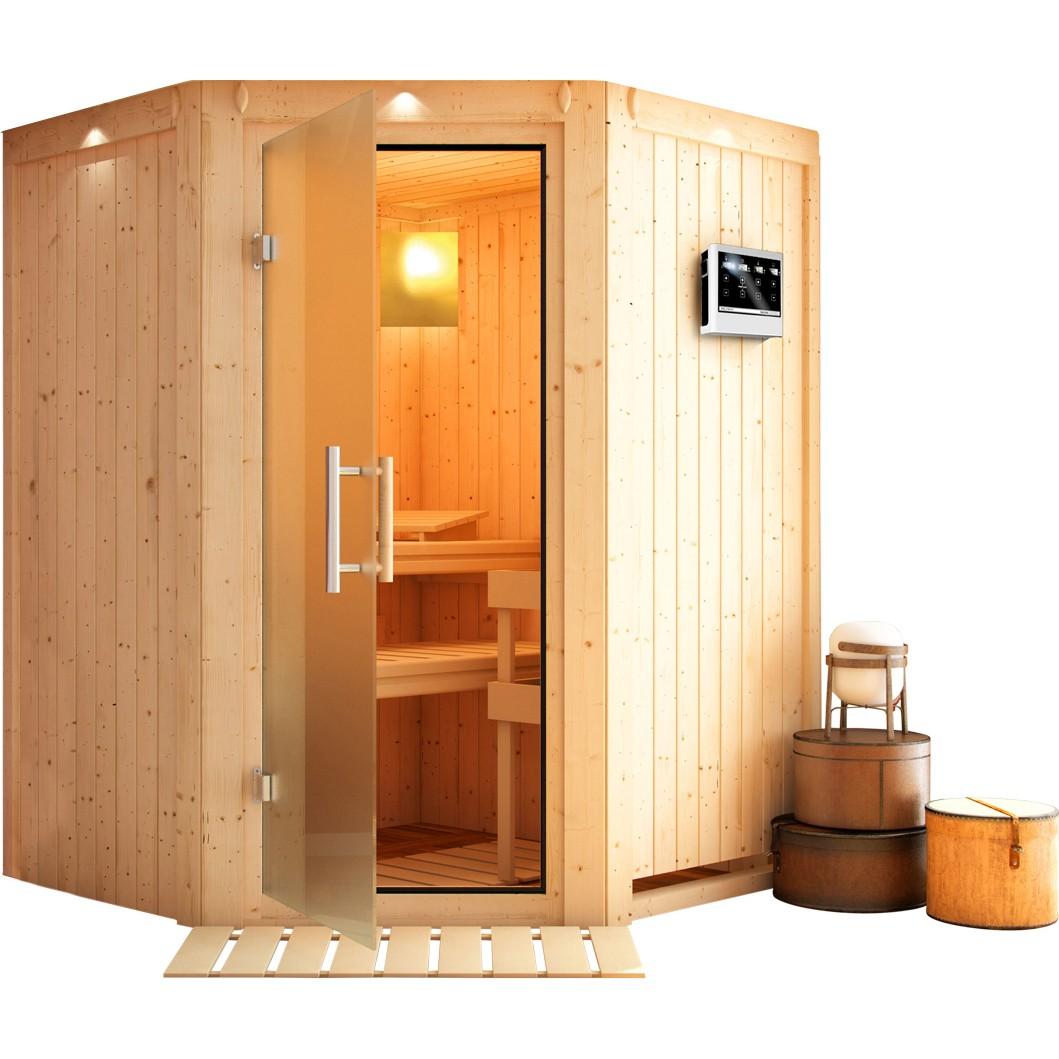 Sauna LARIN 1,51 x 1,51 m - 9.0 kW Ofen ext. St...