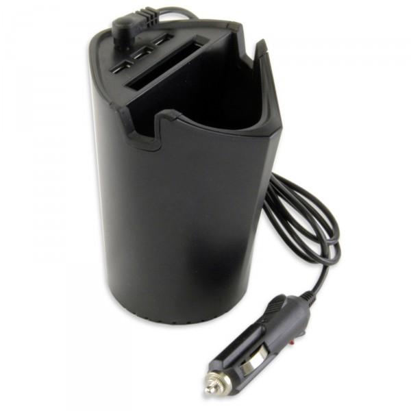 3 x USB Adapter Autoladegerät TASSE