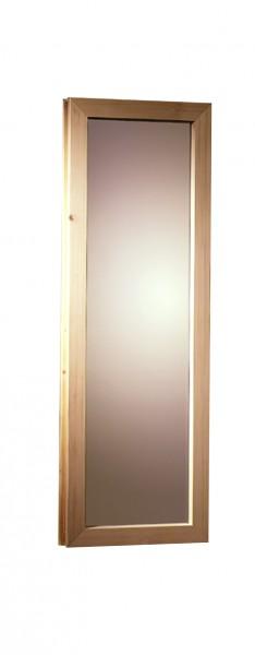 Saunafenster 38/40 mm Klarglas 42 x 122 cm