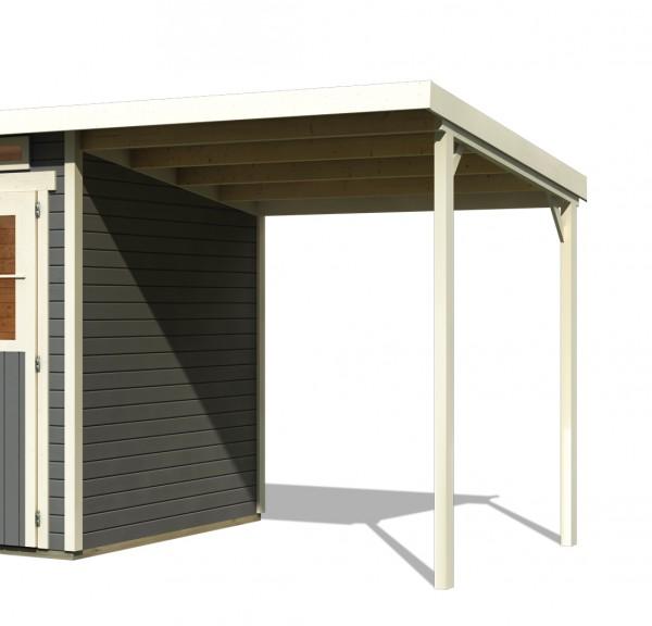 Gartenhaus Schleppdach für GLÜCKSBURG 3 UND 4 elfenbeinweiß
