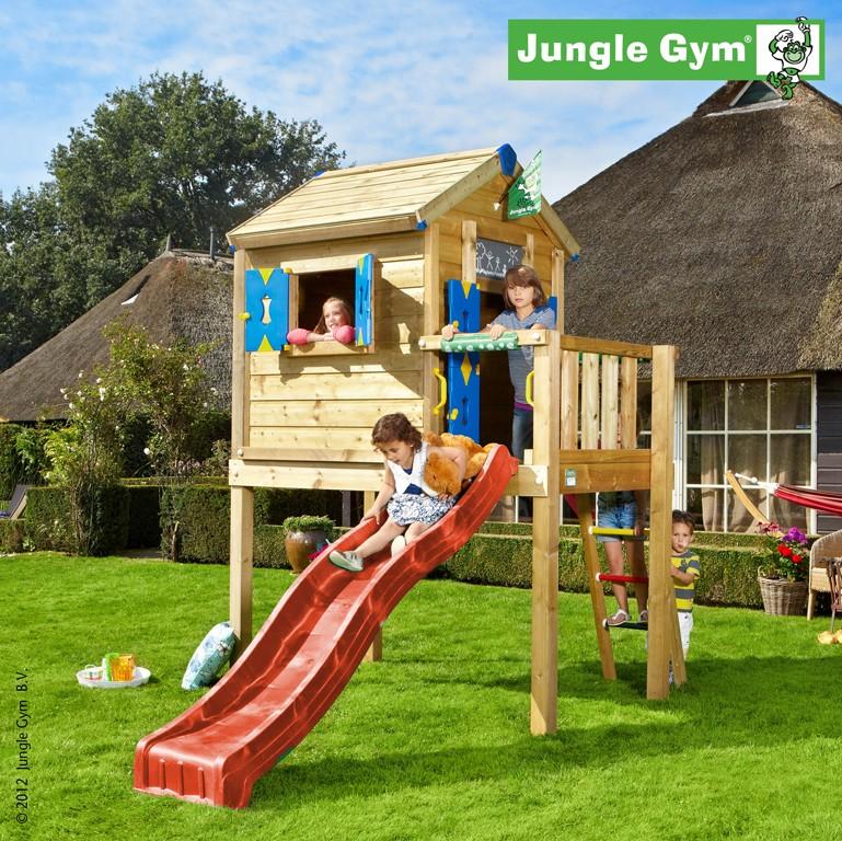 Jungle Gym  Spielhaus PLAYHOUSE L  Rot DH378