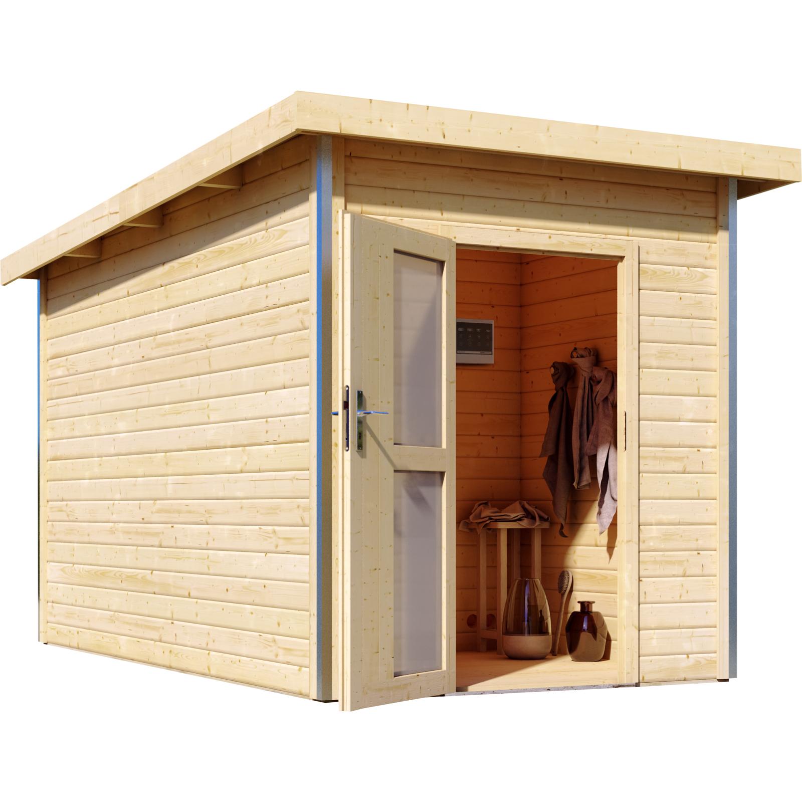 Saunahaus TORGE 1,96 x 3,63 mit Vorraum | Gartensauna | Sauna ...