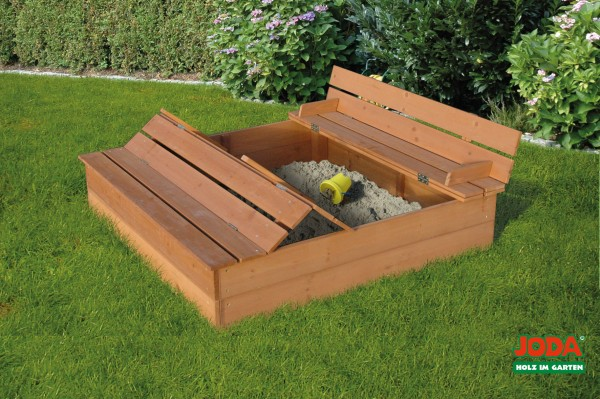 sandkasten mit abdeckung lukas 1 24 x 1 24 m zedernholz. Black Bedroom Furniture Sets. Home Design Ideas