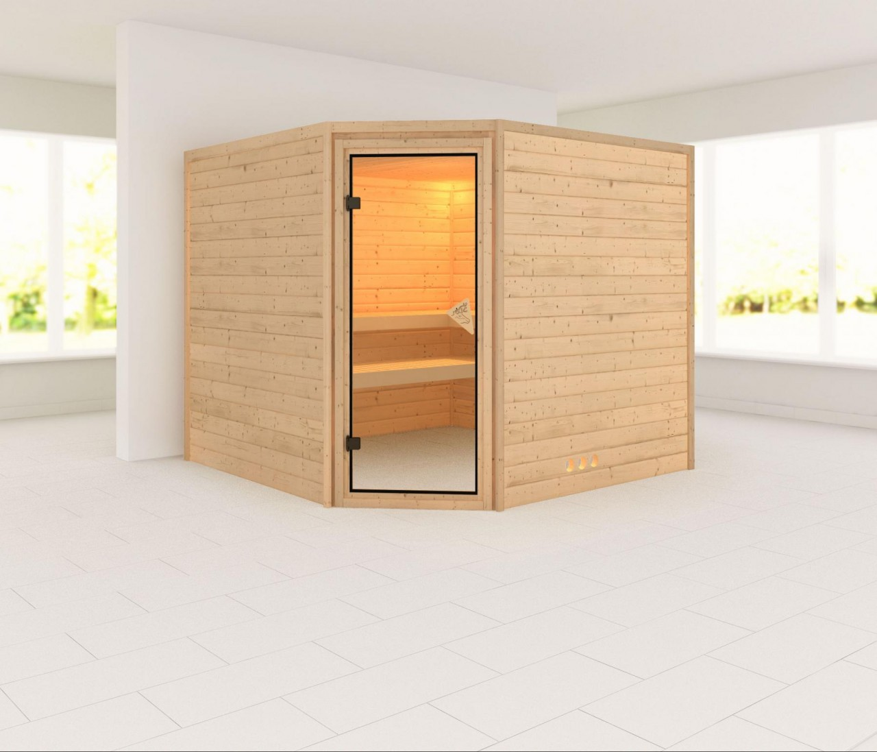 Sauna LEONA 2,31 x 2,31 m