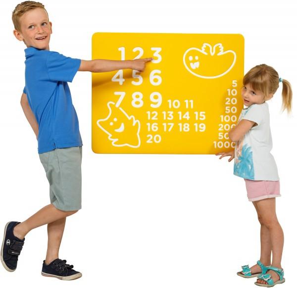Spielwand NUMBERS Gelb 73,5 x 58,5 cm