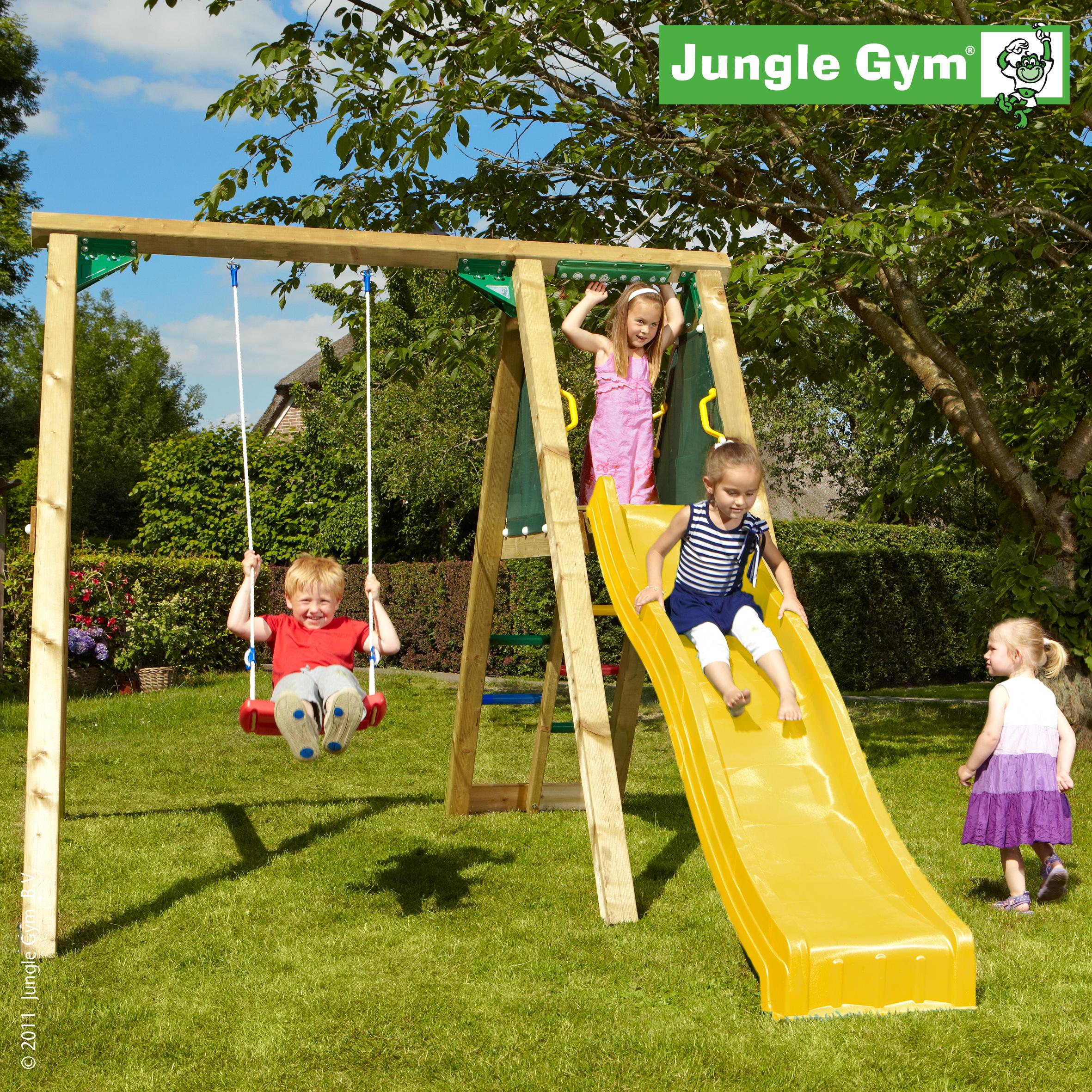 jungle gym schaukel peak mit rutsche schaukelger st. Black Bedroom Furniture Sets. Home Design Ideas