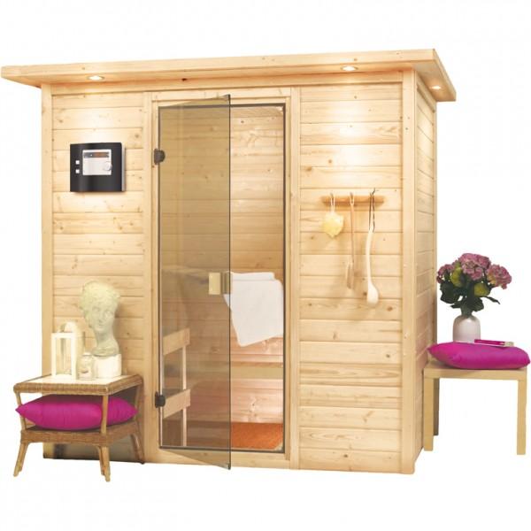 sauna ronja 1 96 x 1 46 m. Black Bedroom Furniture Sets. Home Design Ideas