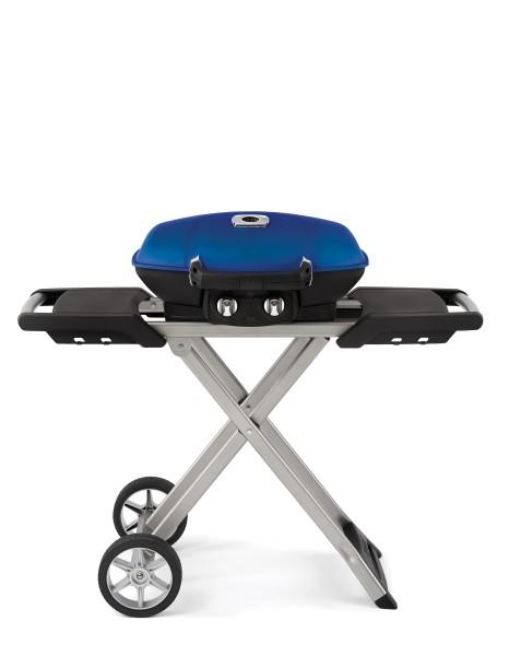 Gasgrill TRAVELQ™ PRO285X Blau mit klappbaren Wagen