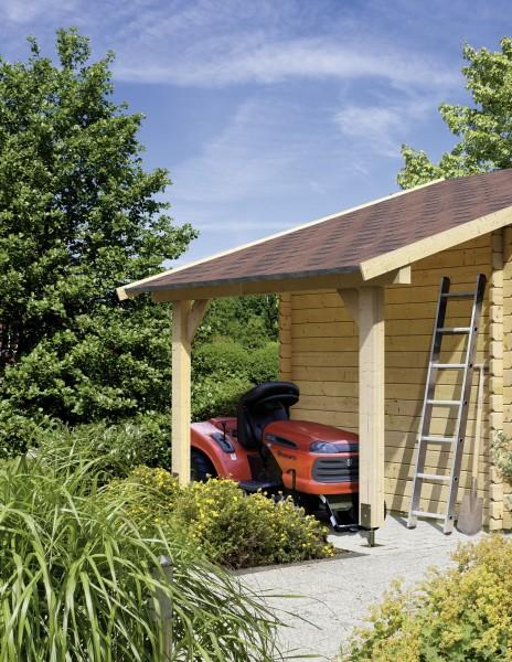 Gartenhaus Schleppdach für VÄRMLAND + WANGERLAND naturbelassen