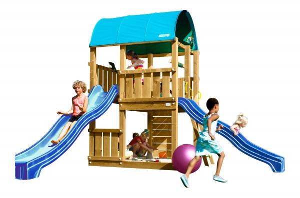jungle gym spielturm farm kletterturm mit rutsche. Black Bedroom Furniture Sets. Home Design Ideas