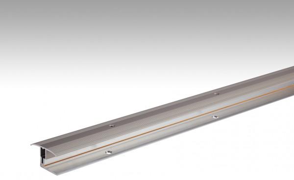 Übergangsprofil Flexo Typ 302 (7 bis 17 mm) Edelstahl-Oberfläche 340