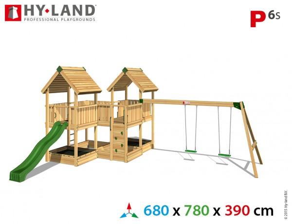 Spielplatzgerate:_Spielturm_mit_Schaukel_und_Rutsche_P6s