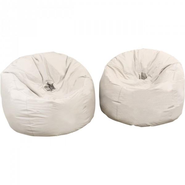 Outbag Outdoor Sitzsack Set DONUT Fabric latte wetterfest 2-tlg ...
