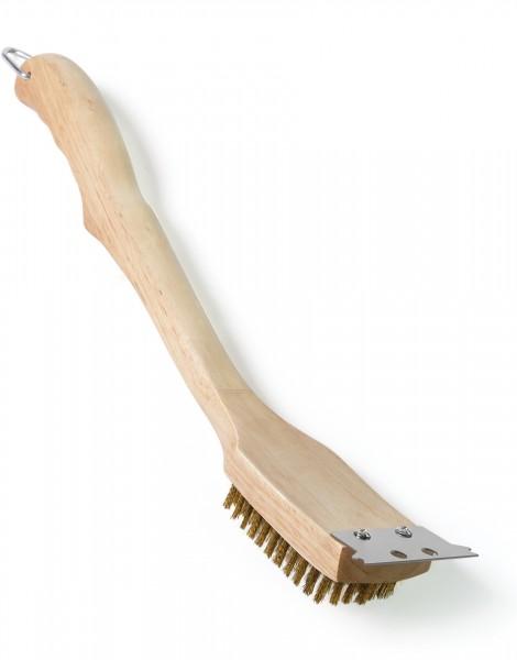 Grillbürste Holz mit Messing-Borsten 45 cm