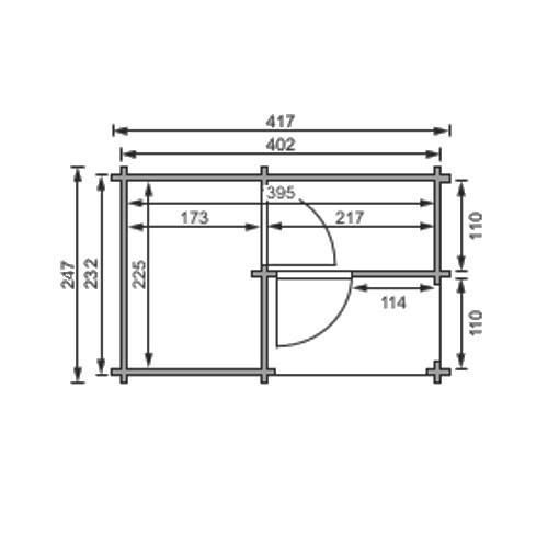 karibu gartensauna saunahaus 4 mit vorraum 4 37 x 2 94 m 38 mm au ensauna. Black Bedroom Furniture Sets. Home Design Ideas